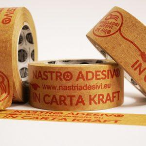nastro adesivo personalizzato in carta kraft