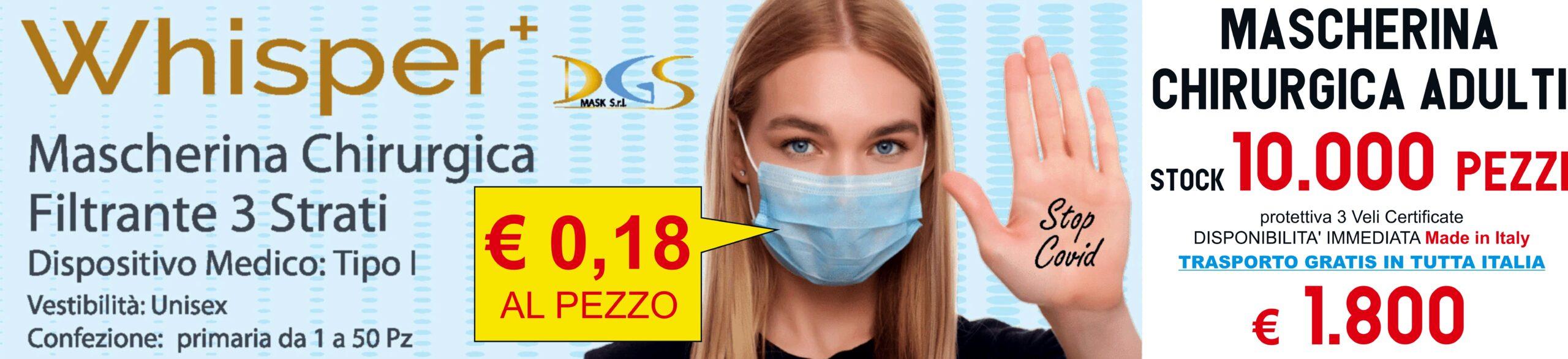 Mascherine chirurgiche monouso filtranti in tnt 3 Strati protettivi viso 10.000 pezzi